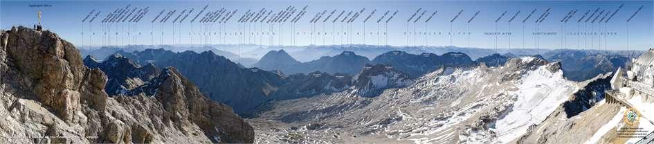 Zugspitze Panorama Zugspitze 360° Pa...